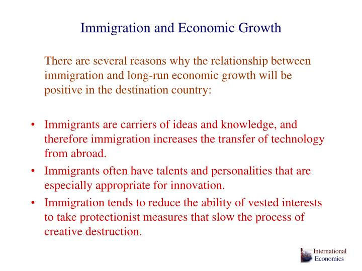 Immigration and Economic Growth
