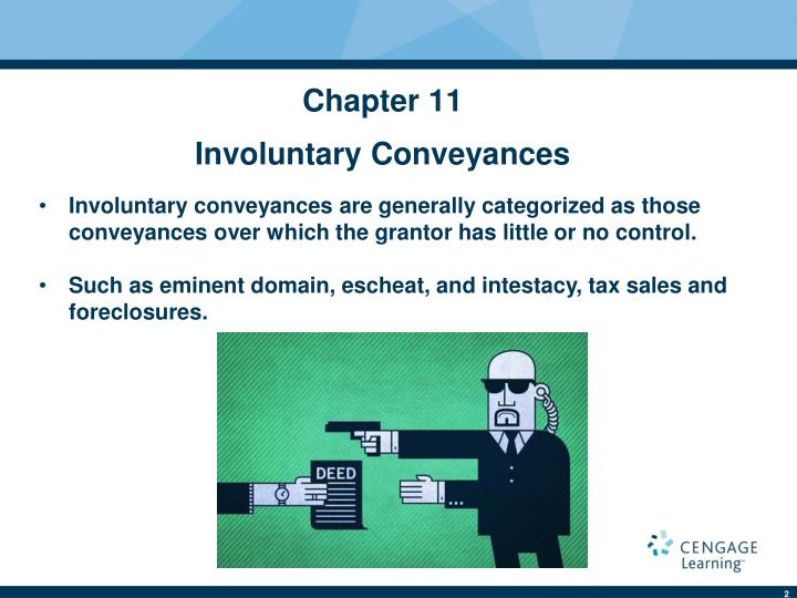 Chapter 11 involuntary conveyances