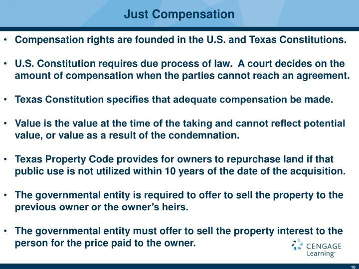 Just Compensation