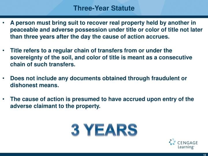 Three-Year Statute
