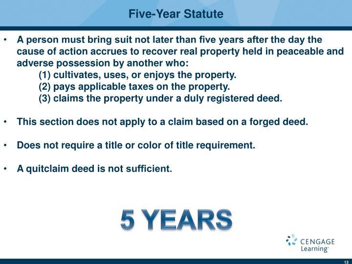 Five-Year Statute