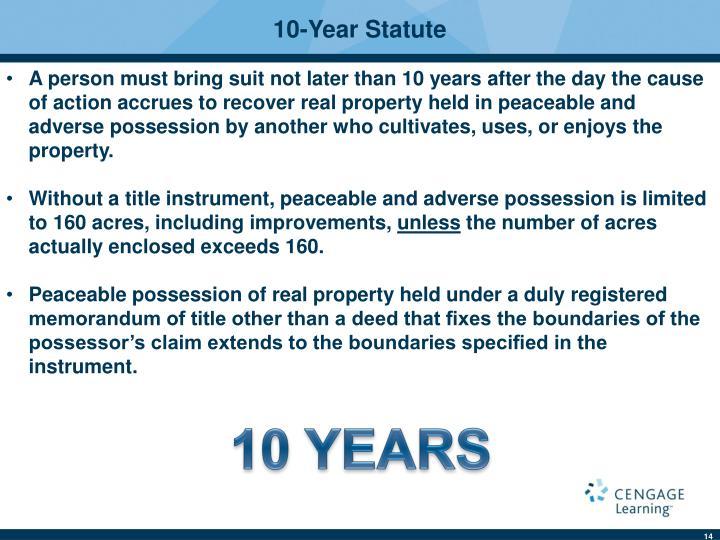 10-Year Statute