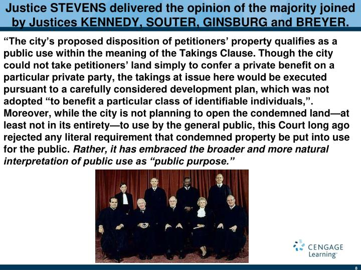Justice STEVENS delivered the opinion of the majority joined by Justices KENNEDY, SOUTER, GINSBURG and BREYER.