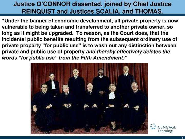 Justice O'CONNOR dissented, joined by Chief Justice REINQUIST and Justices SCALIA, and THOMAS.