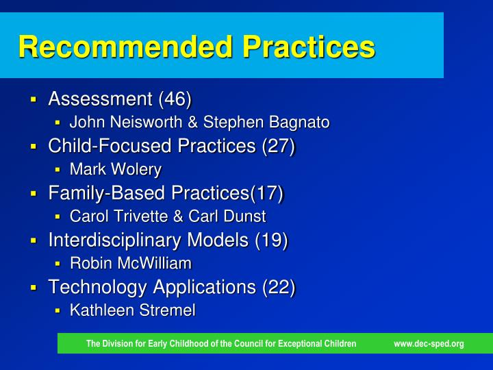 Recommended Practices