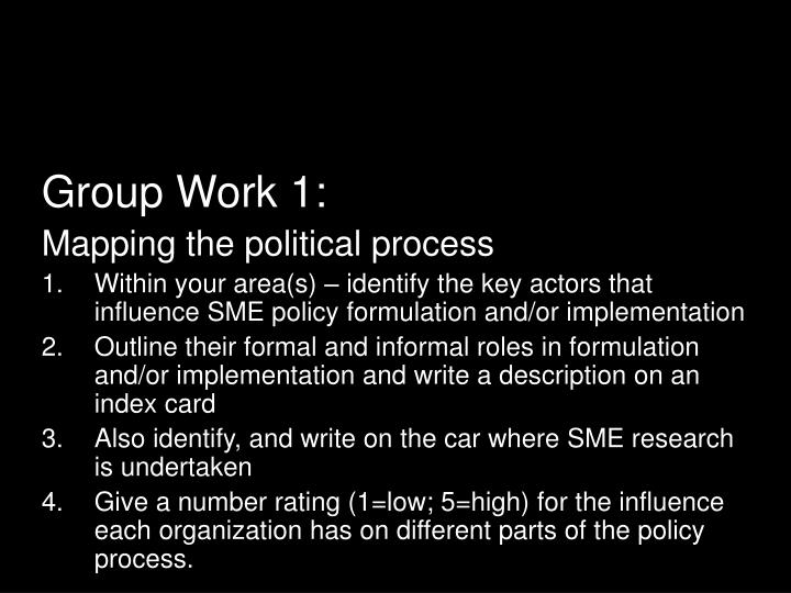 Group Work 1: