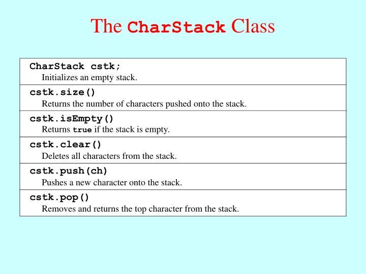 CharStack