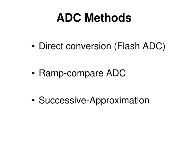 Adc methods
