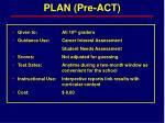 plan pre act