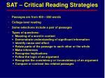 sat critical reading strategies