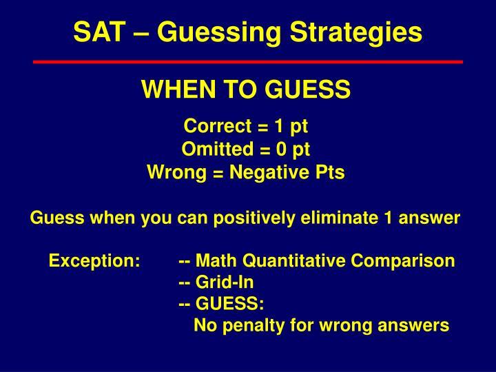 SAT – Guessing Strategies