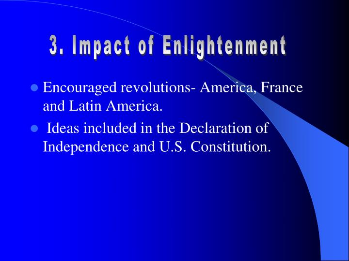 3. Impact of Enlightenment