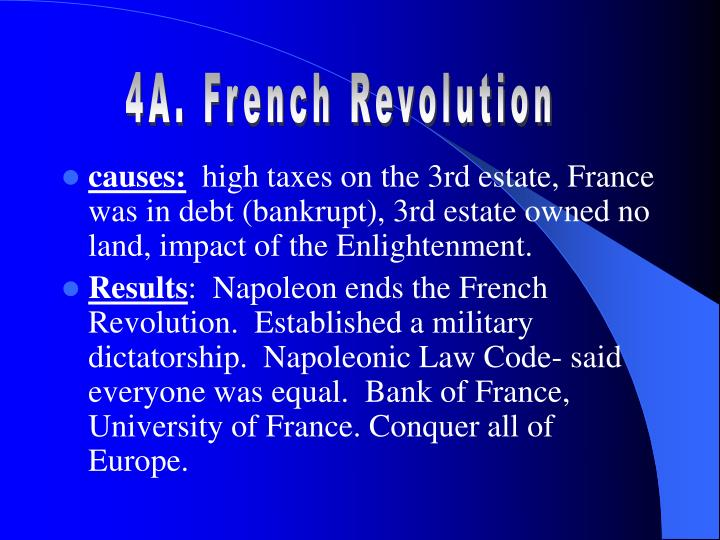 4A. French Revolution