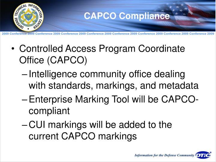 CAPCO Compliance