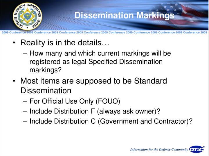 Dissemination Markings