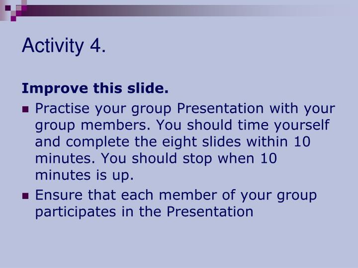 Activity 4.
