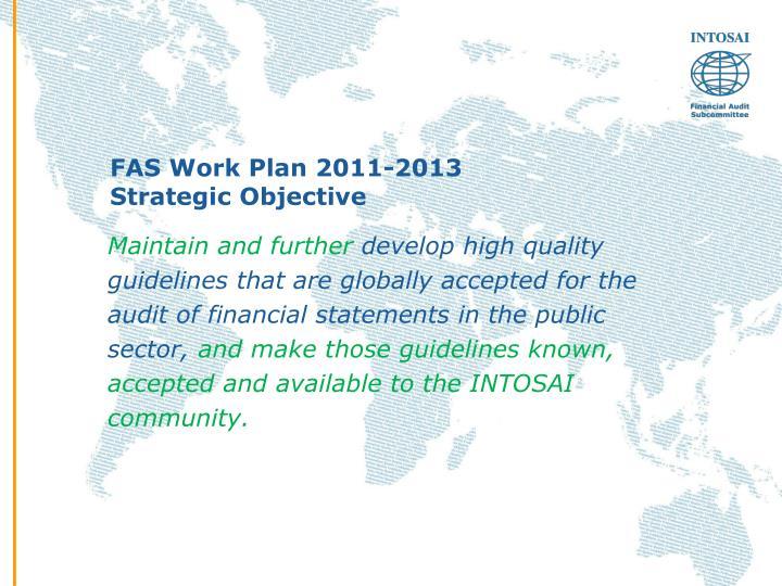 FAS Work Plan 2011-2013