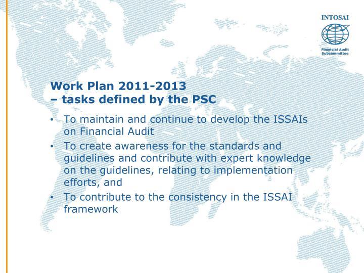 Work Plan 2011-2013