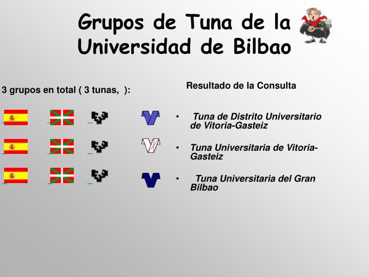 Grupos de Tuna de la Universidad de Bilbao