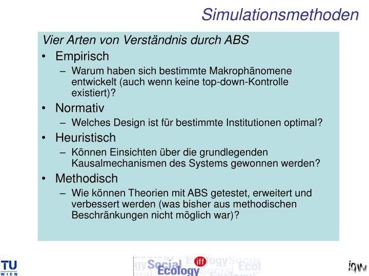 Simulationsmethoden