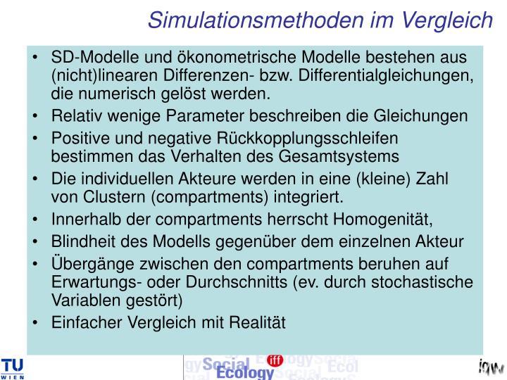 Simulationsmethoden im Vergleich