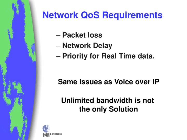 Network QoS Requirements