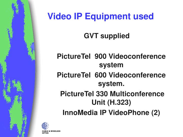 Video IP Equipment used