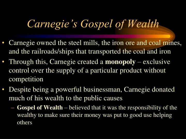 Carnegie's Gospel of Wealth
