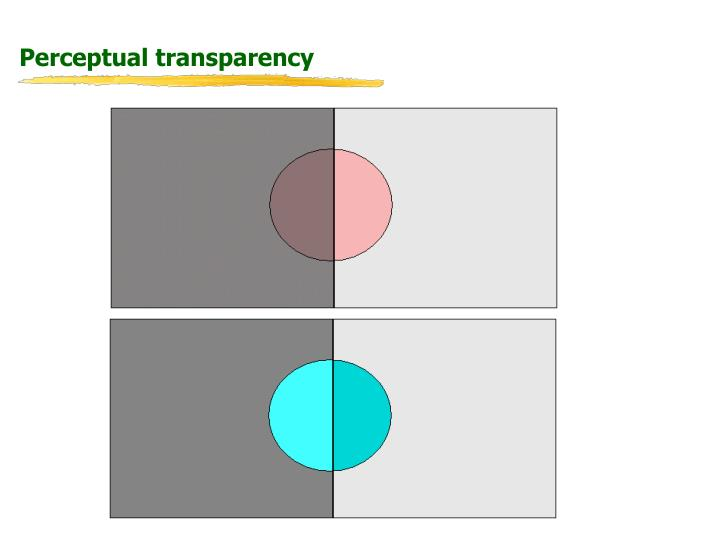 Perceptual transparency