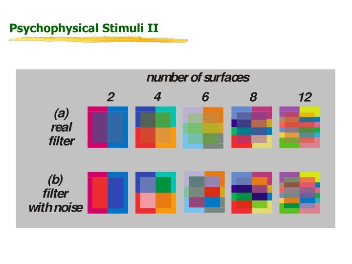 Psychophysical Stimuli II