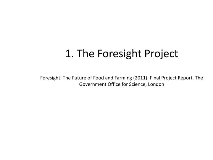 1. The Foresight Project