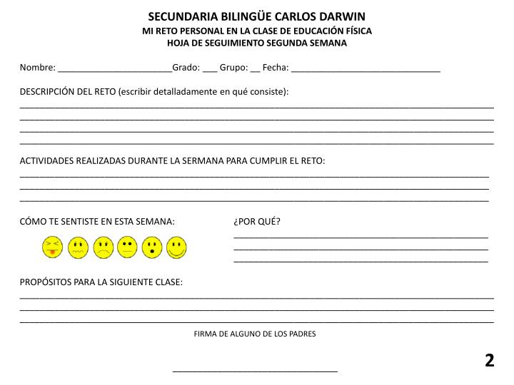 SECUNDARIA BILINGÜE CARLOS DARWIN
