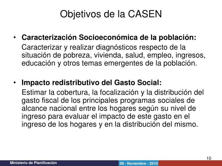 Caracterización Socioeconómica de la población: