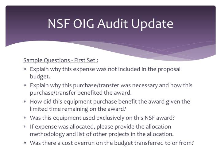 Nsf oig audit update2