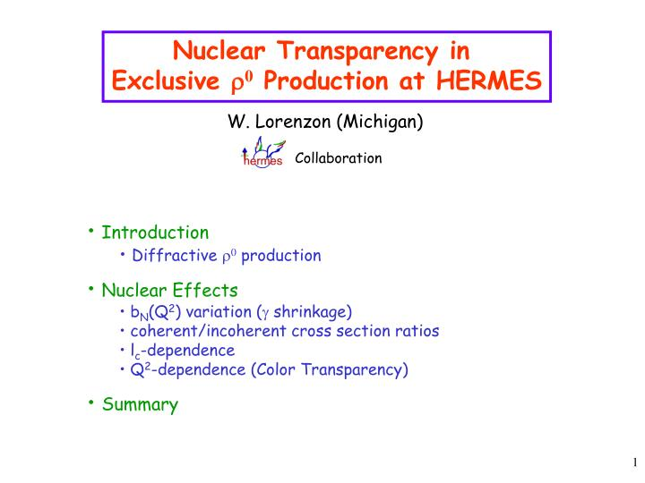 Nuclear Transparency in
