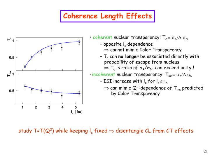 Coherence Length Effects