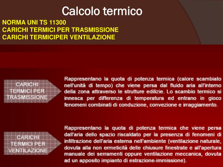 Calcolo termico