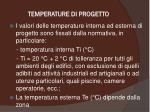 temperature di progetto