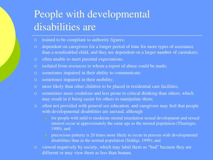 People with developmental