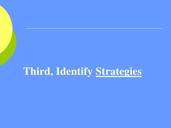 Third, Identify