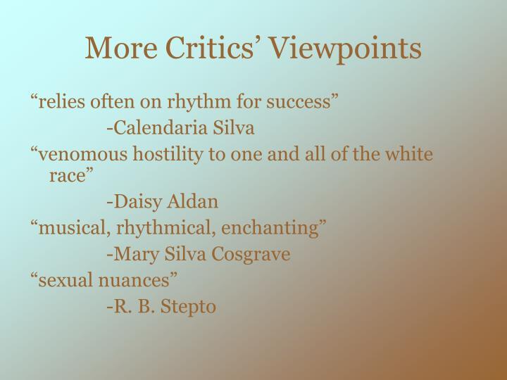 More Critics' Viewpoints