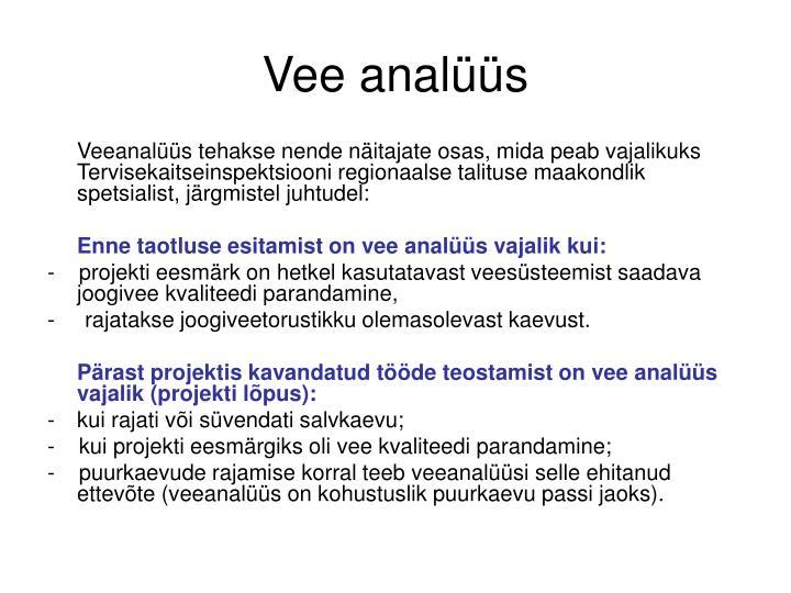 Vee analüüs