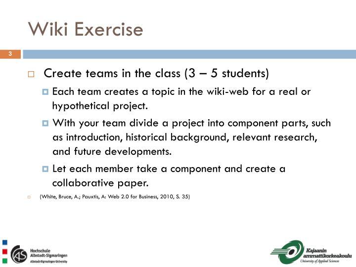 Wiki Exercise