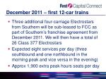december 2011 first 12 car trains