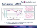 performance all fcc