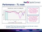 performance tl route