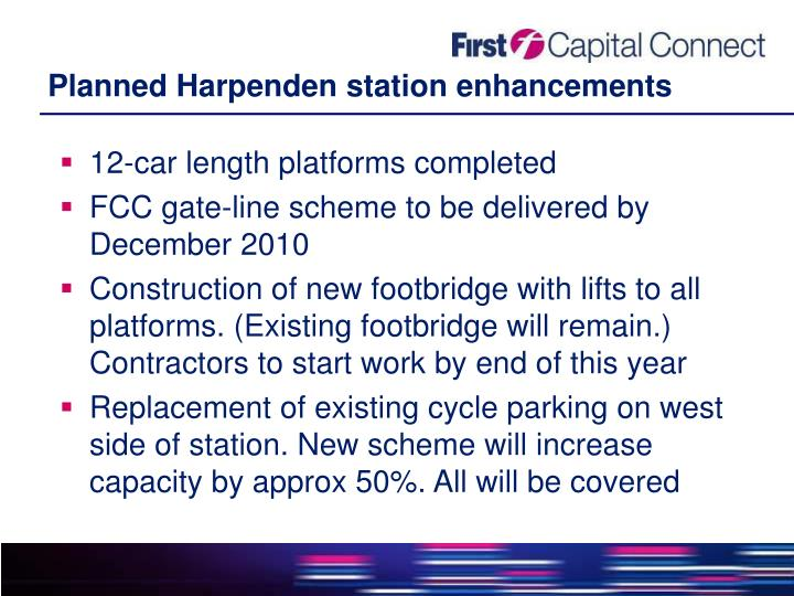 Planned Harpenden station enhancements
