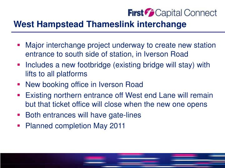 West Hampstead Thameslink interchange