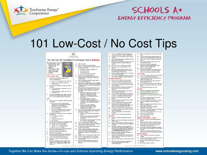 101 Low-Cost / No Cost Tips