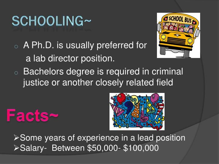 Schooling~